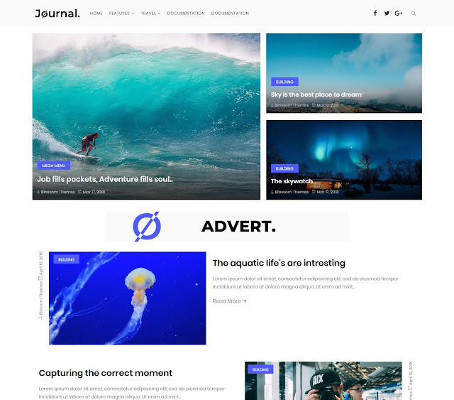 Download Journal Blogger Theme
