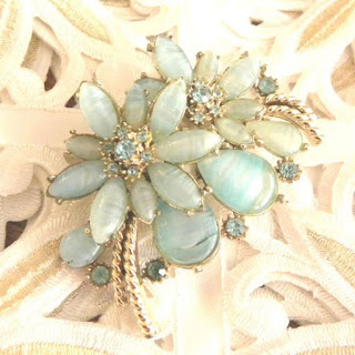 Pale blue Art Glass brooch by Exquisite 2