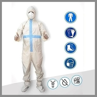 PPE with Hand Gloves,Shoe Cover and Mask-Non-Woven-washble Fleetworkers