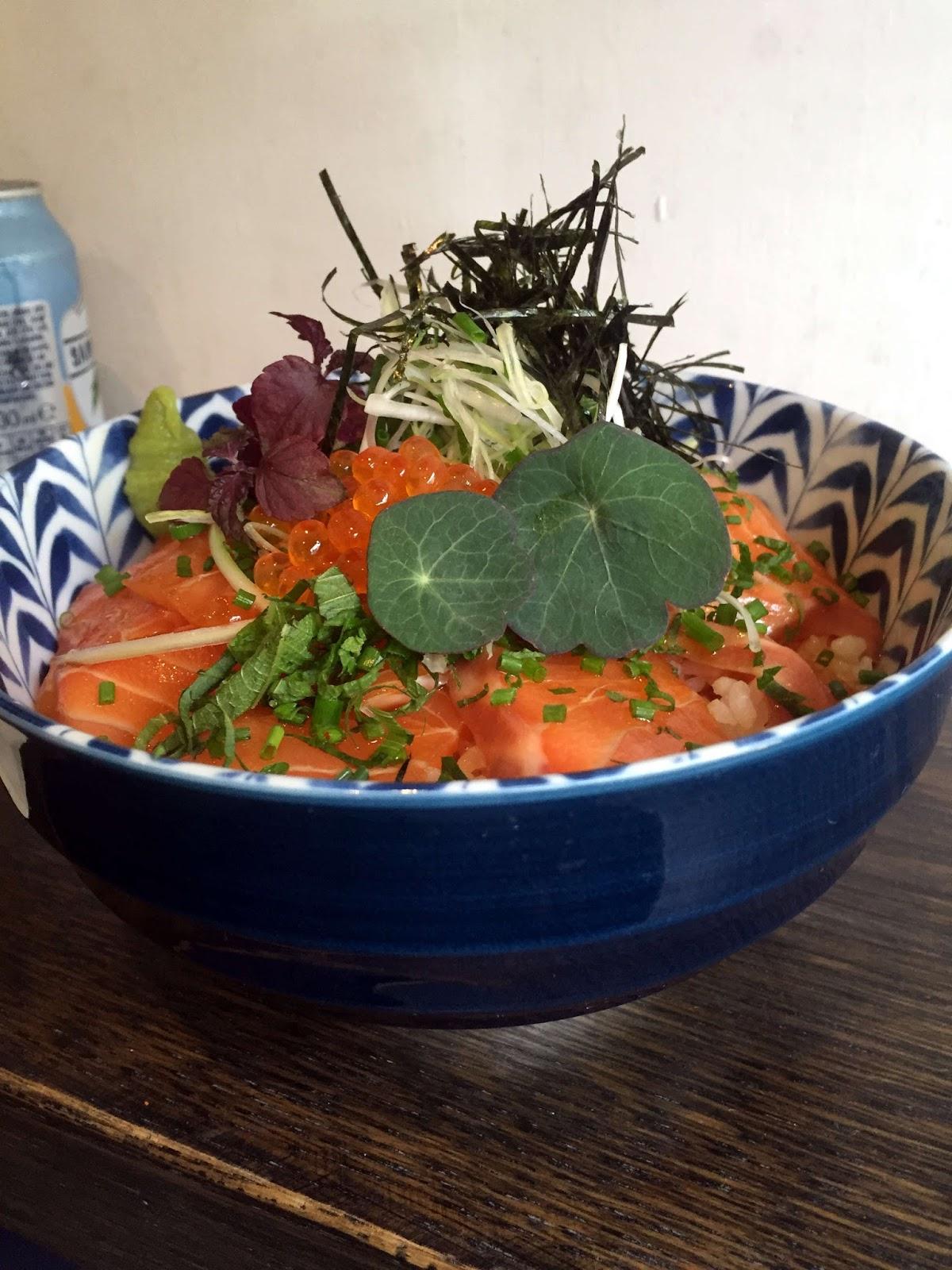 Stitch and Bear - Miyazaki - Salmon zuke donburi
