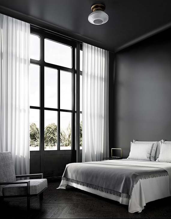 All black sophisticated bedroom design | Katty Schiebeck