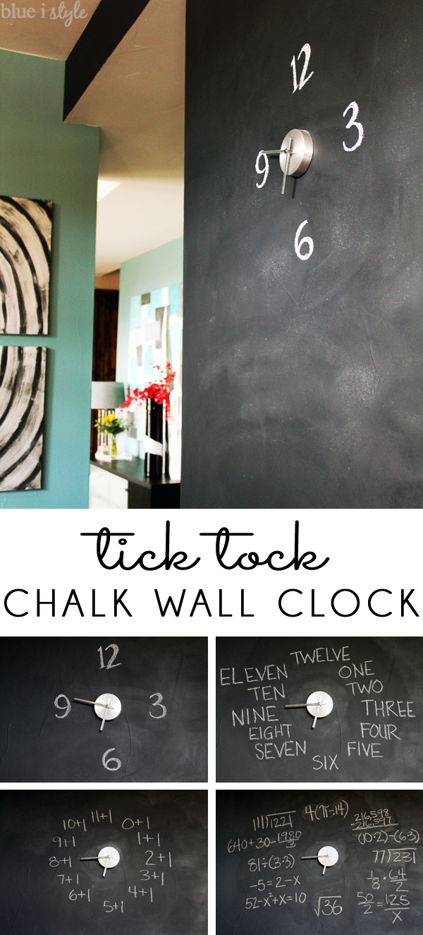 Chalkboard Wall Clock
