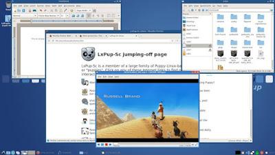 Tampilan Puppy Linux