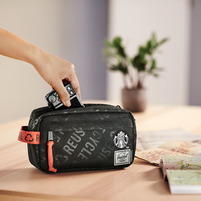 Starbucks, Herschel Supply Designer Collection, Starbucks x Herschel Supply, Fashion, Food. Classic XL Bag Pack, Carry Bag, Stainless Steel Tumbler,