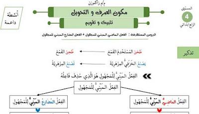 أنشطة-داعمة-في-الصرف-و-التحويل-المستوى-الرابع