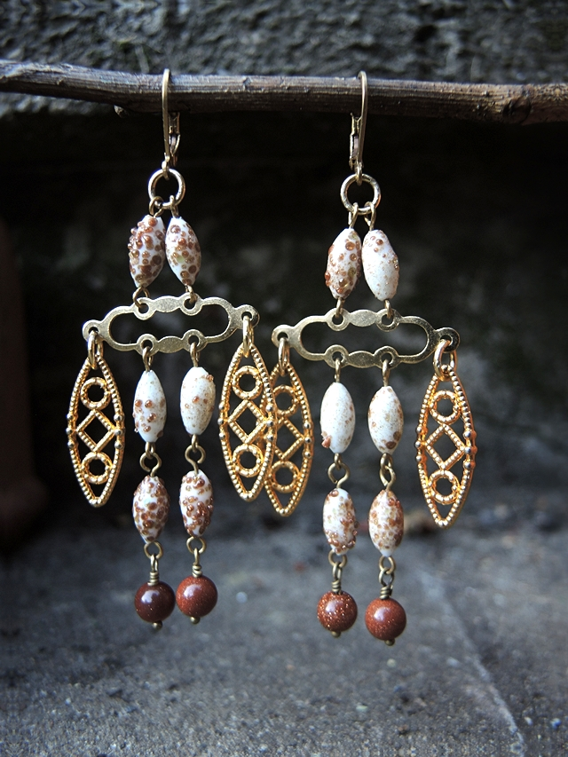 DIY oorbellen/earrings 'Zeyneb'