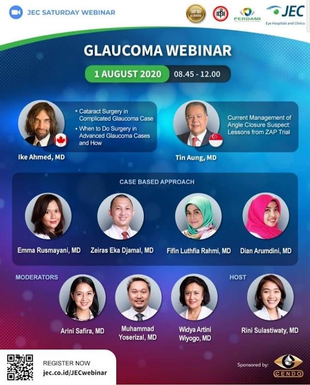"International Webinar ""GLAUCOMA"" August 1st 2020"