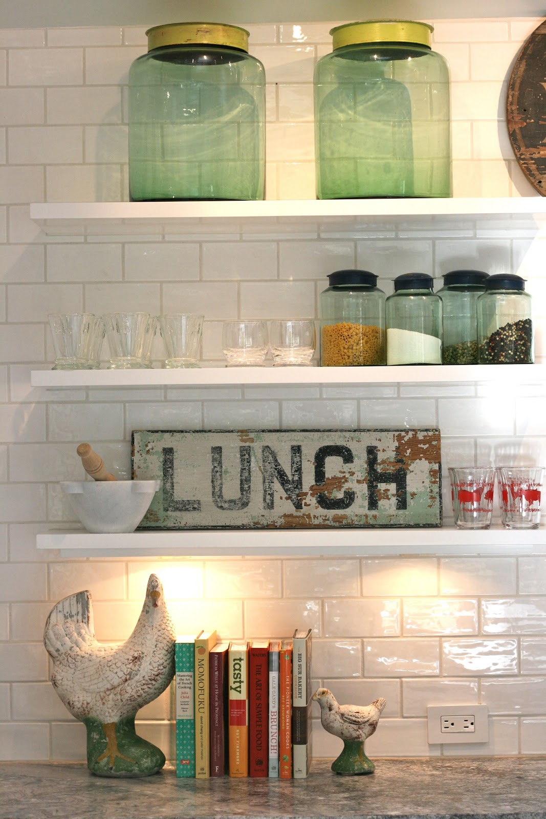 The Polished Pebble: Modern Country Style: Kitchen Storage