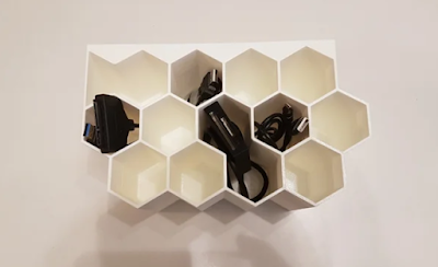 Honeycomb cable organizer