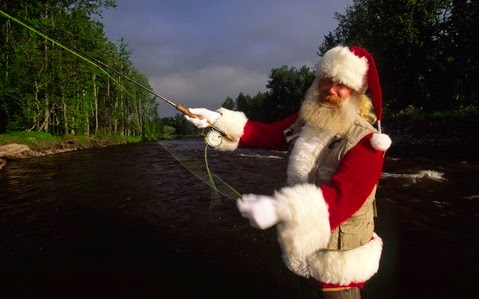 Image result for santa fly fishing