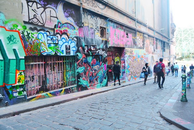 The mural street in Melbourne