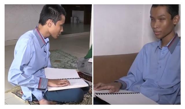 Subhanallah, Alami Tunanetra, Bocah Ini Ternyata Sanggup Hafal Al-Qur'an dengan Rutin Mendengar Murotal
