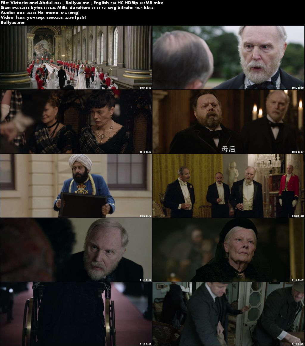 Victoria and Abdul 2017 HC HDRip 300MB English 480p Download