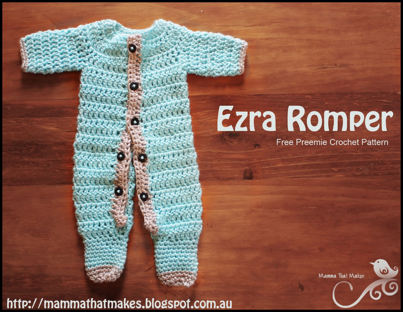 Mamma That Makes  Ezra Romper - Free Crochet Pattern b8a79c6f7
