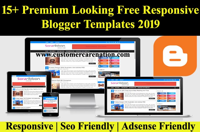 15+ Premium Looking Free Responsive Blogger Templates 2019