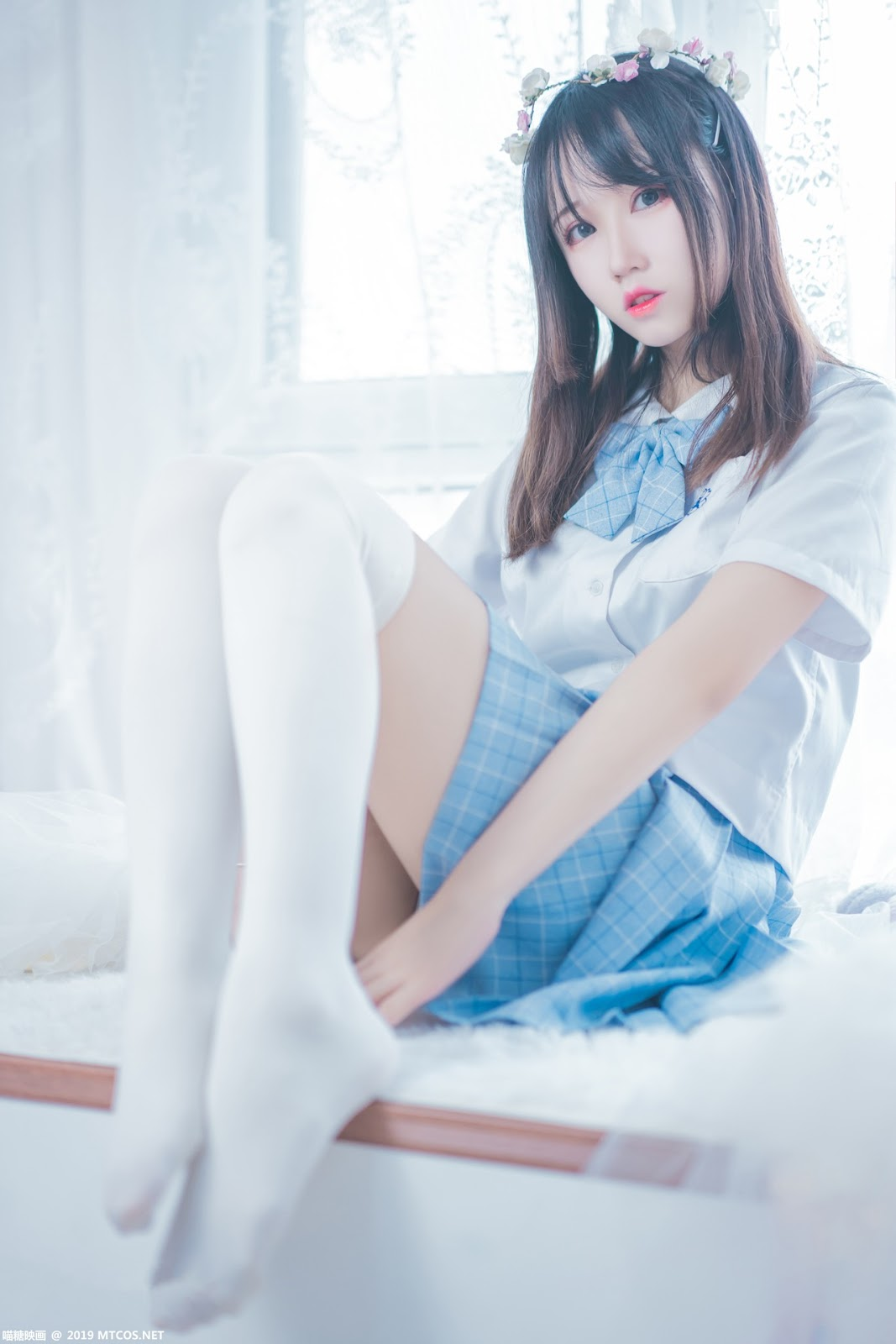 Image [MTCos] 喵糖映画 Vol.019 – Chinese Cute Model – Blue White Fantasy Girl - TruePic.net - Picture-9