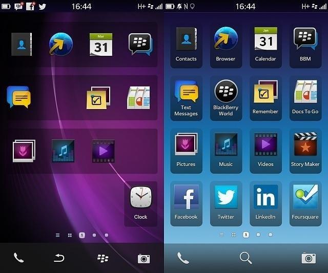 Contoh Sistem Operasi Blackberry OS - Image by MeNDHo.com