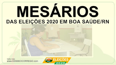 Conheça os mesários das eleições 2020
