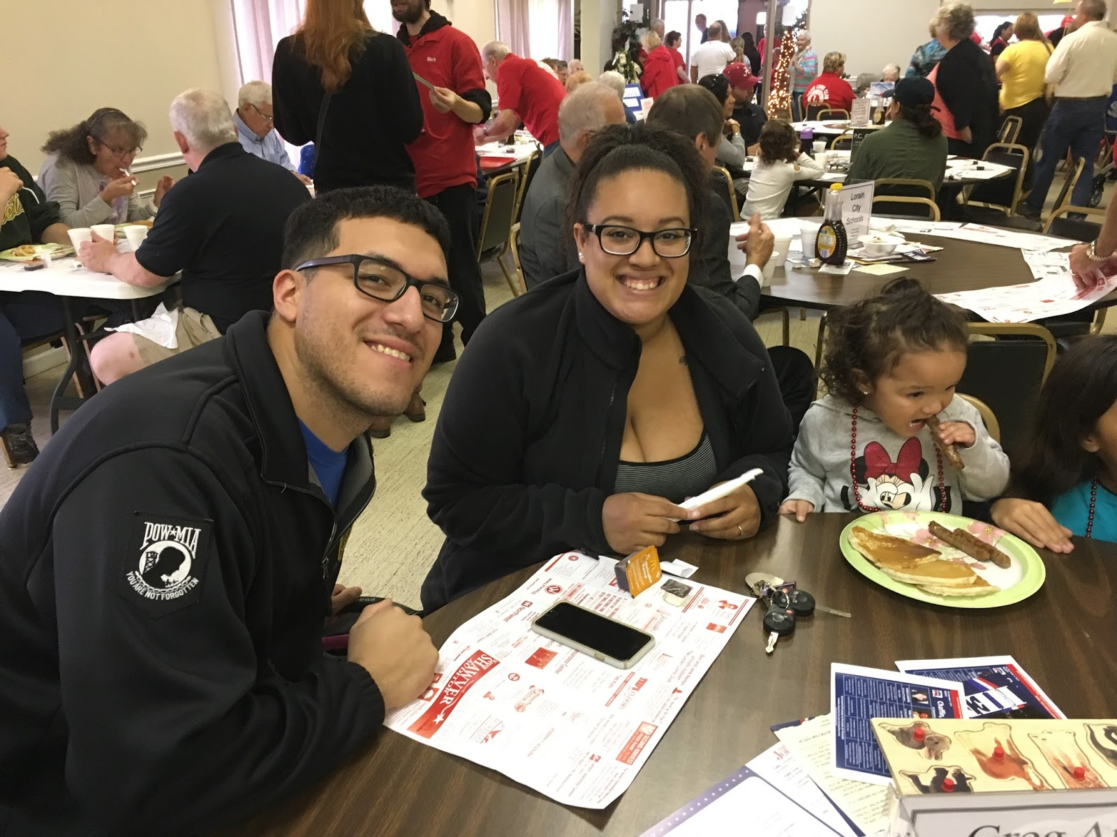 Alec And Veronique Nieto With Daughter Have Attended Many Of The Lions Club Breakfasts