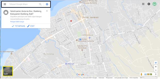 Memasukkan Alamat di Google Maps