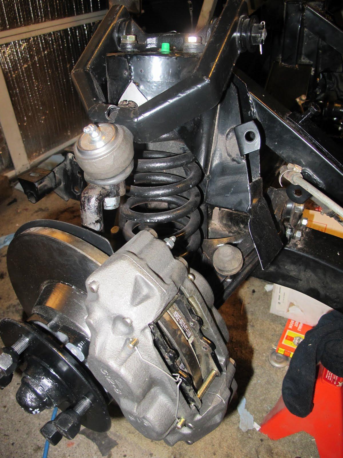 Triumphtr3muse Triumph Tr3 Front Brakes Installed