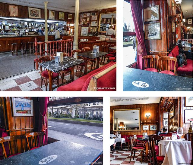 Salão do Grand Café Gijón, em Madri