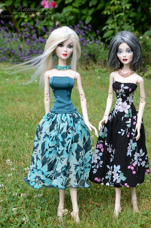Floral dresses for dolls