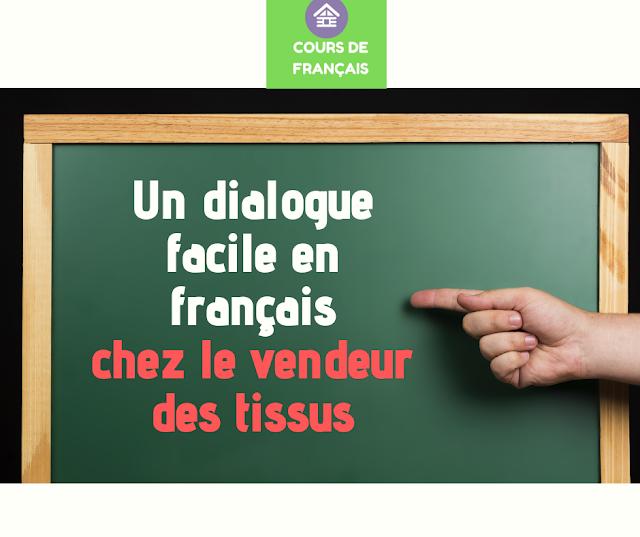dialogue entre vendeur et client en français