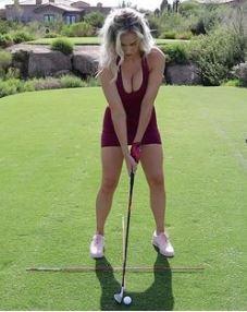Australian golf legend Norman beach pic get naughty comment from hot Insta golf girl Paige Spiranac