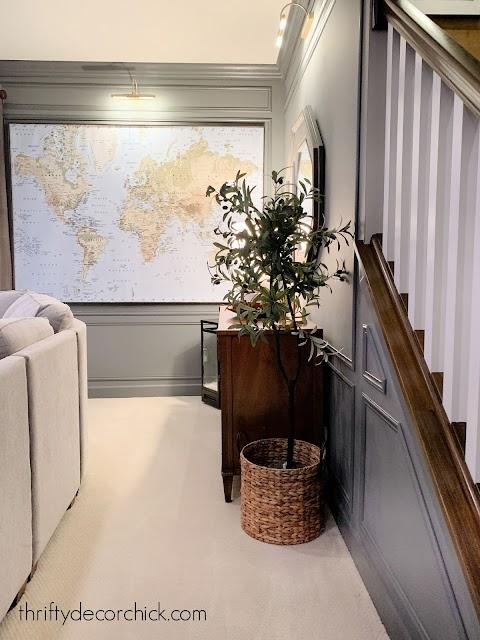 Huge framed ikea world map