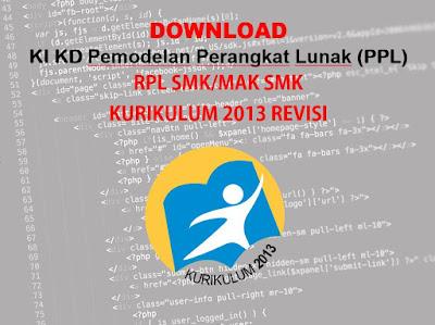 KI KD Pemodelan Perangkat Lunak SMK RPL Kurikulum 2013 Revisi