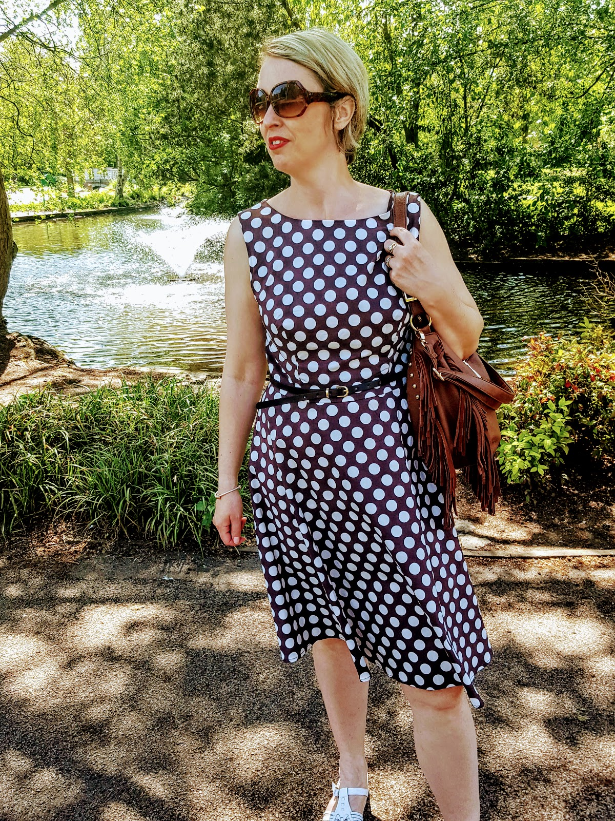 Brown Polka Dot Dress: Pretty Woman Style