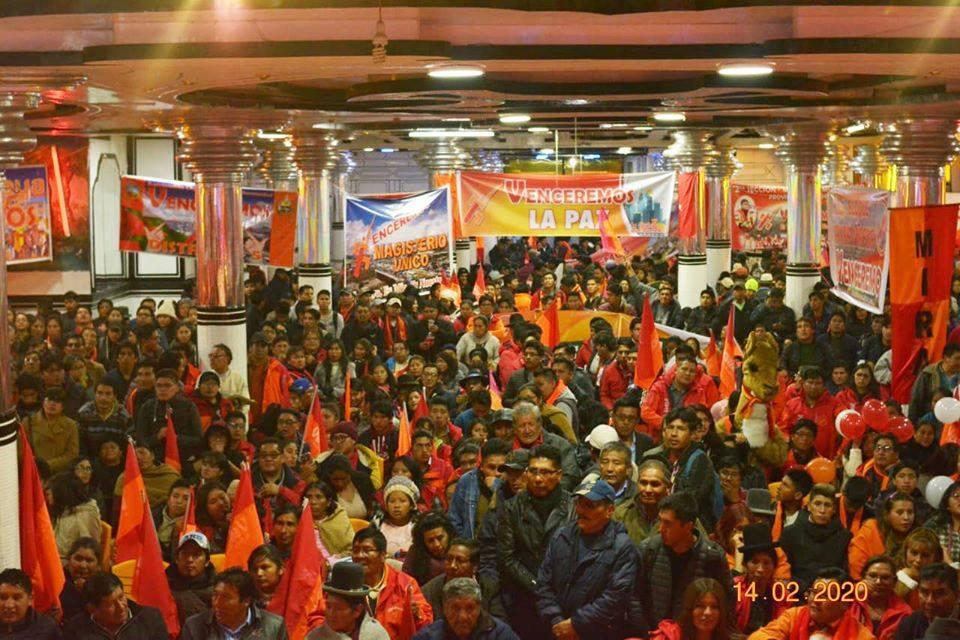 El acto de Venceremos del concejal Oscar Huanca en El Alto / PRENSA VENCEREMOS