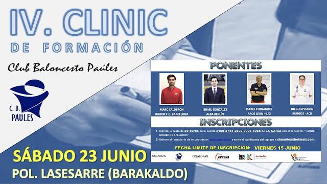 Cartel del IV Clinic de Formación de Paúles