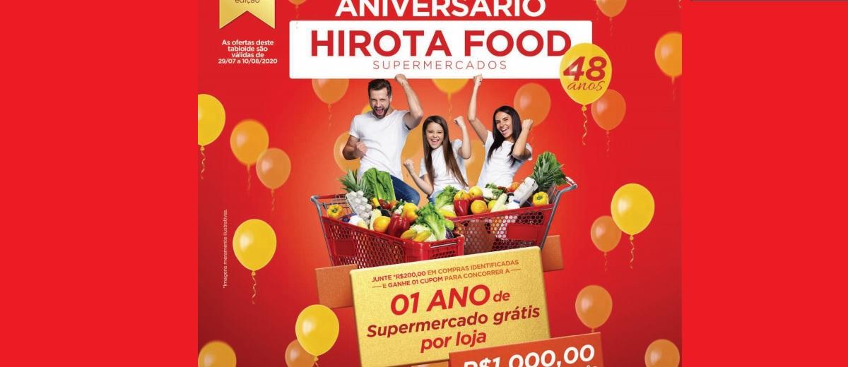 Promoção Aniversário Hirota Food 2020 - 1 Ano de Compras Supermercado Grátis