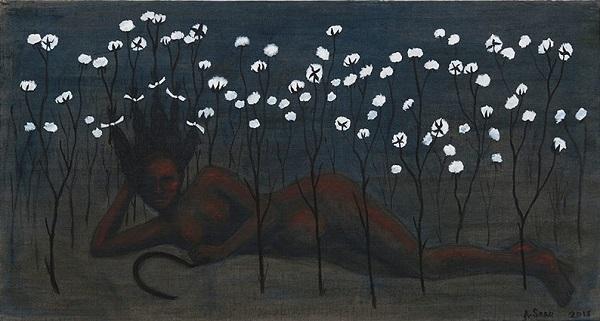 "Alison Saar - ""Bitter Crop"", 2018 - Charcoal and Acrylic | imagenes obras de arte, cuadros, pinturas chidas, bellas | art pictures, cool stuff"