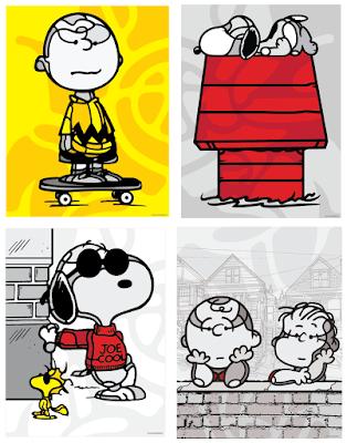 Peanuts Attitude Print Series by David Flores x Dark Hall Mansion