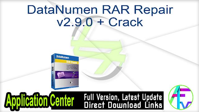DataNumen RAR Repair v2.9.0 + Crack