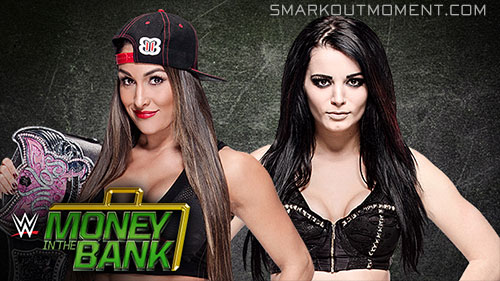 WWE Money in the Bank 2015 Paige vs Nikki Bella Divas Title Match
