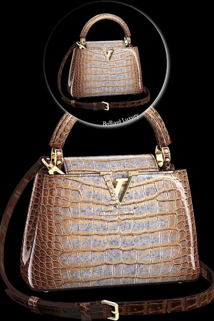 Louis Vuitton Capucines mini bag crafted from precious crocodilian leather #brilliantluxury