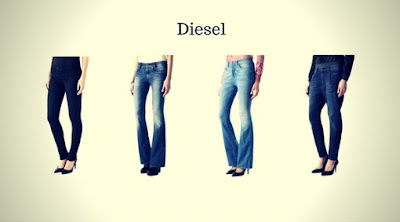 Calças Jeans Femininas da Diesel