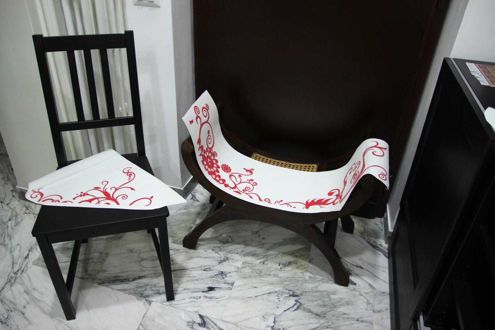 Specchio Adesivo Rotolo Ikea eri+gg: francesismi 2: decorazioni attorno allo specchio