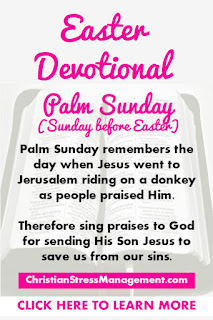 Easter Devotional for Palm Sunday