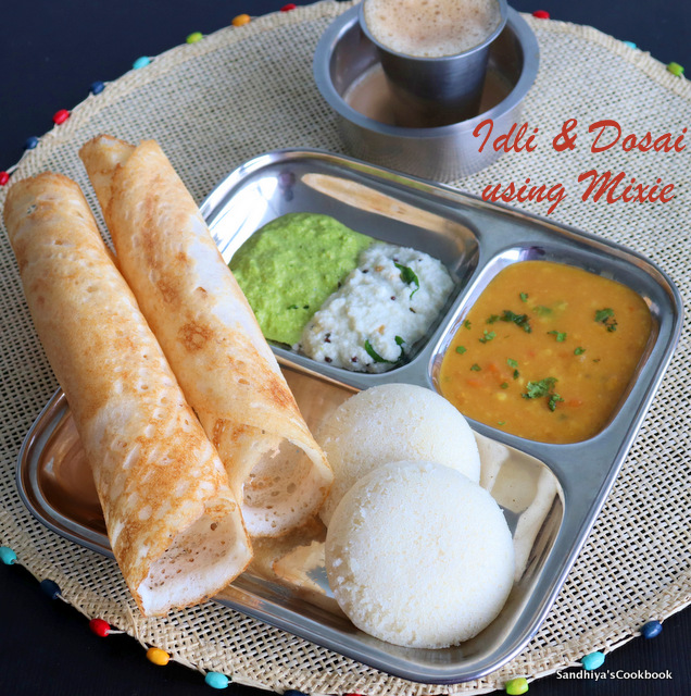 Idli and Dosa Platter
