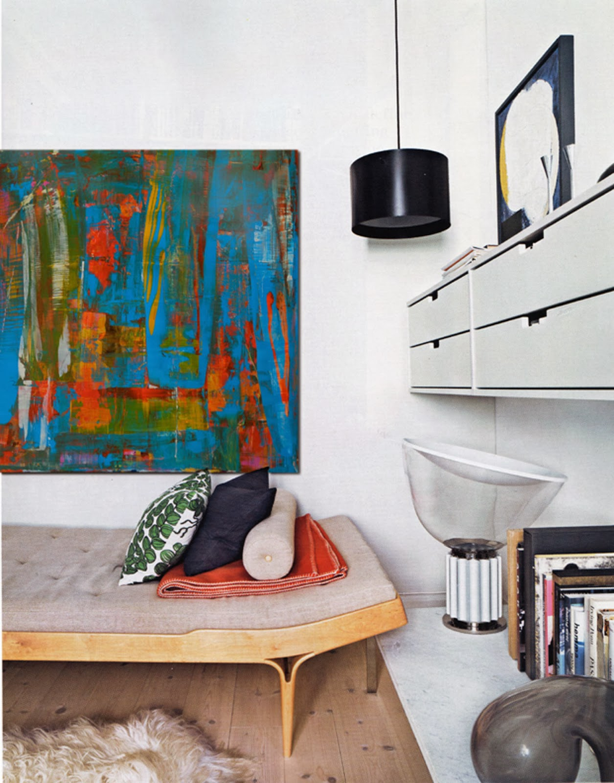 Victor Raul Garcias Circo Abstract Modern Painting By The Bed