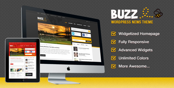 buzz tema worpress tipo revista