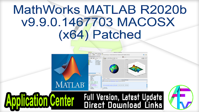 MathWorks MATLAB R2020b v9.9.0.1467703 MACOSX (x64) Patched