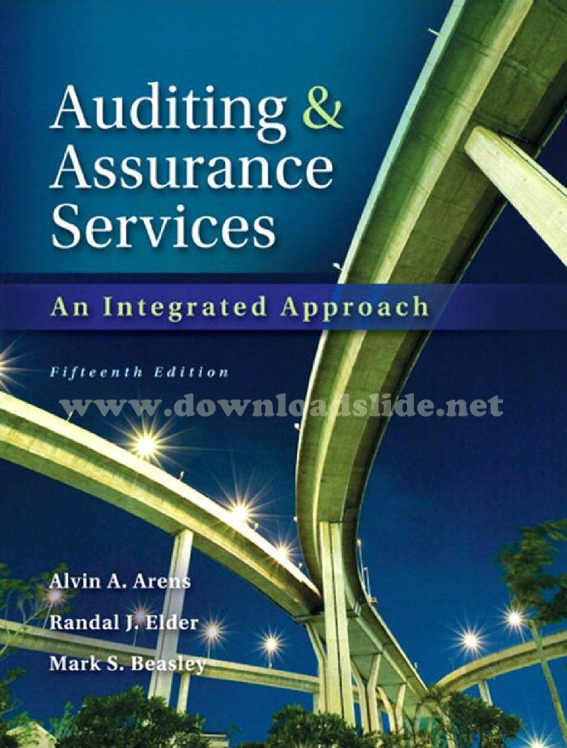 EBOOK / SOLUTION MANUAL / POWERPOINT / TEST BANK. Book Title. : Auditing  and Assurance Services: ...