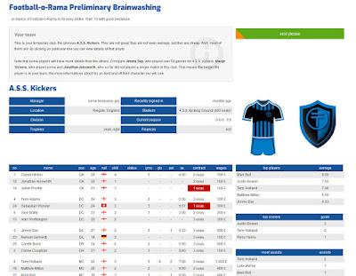 Football-o-Rama online soccer manager