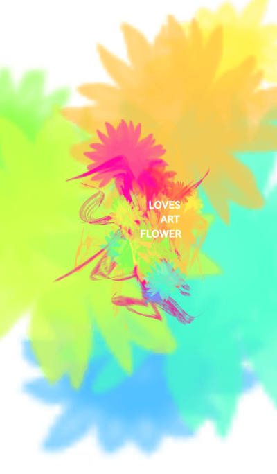 loves art FLOWER
